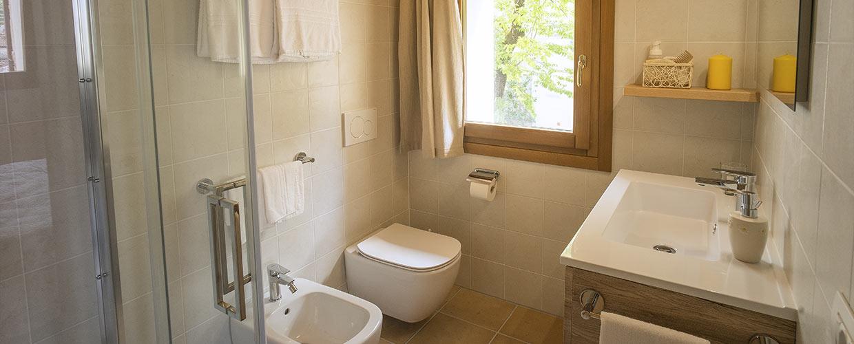 Bagno con doccia camera Il Follo Valdobbiadene
